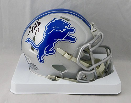 Golden Tate Autographed Detroit Lions Speed Mini Helmet - Beckett W Auth Black