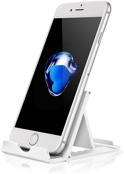 Tsumbay - Soporte de Escritorio Universal para Smartphone y Tablet, Plegable Stand de Mesa con Multiángulo, Phone Dock Holder para iPhone Samsung Galaxy Nexu Huawei LG Nokia, Plata: Amazon.es: Electrónica