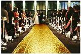 Wedding Runner 4FTx35FT Aisle Runner Gold Sparkling Sequin Aisle Runner Shiny Gold ~0822S