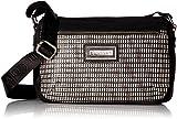 Calvin Klein Belfast Key Item Raffia Top Zip Crossbody, White/Black