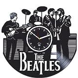 The Beatles Clock, Valentines Day Gift For Men, John Lennon, Rock Music Band, Vinyl Wall Clock, Handmade Best Gift for Fans, Vinyl Record, Kovides, Silent Mechanism, Wall Sticker, Wall Art Review