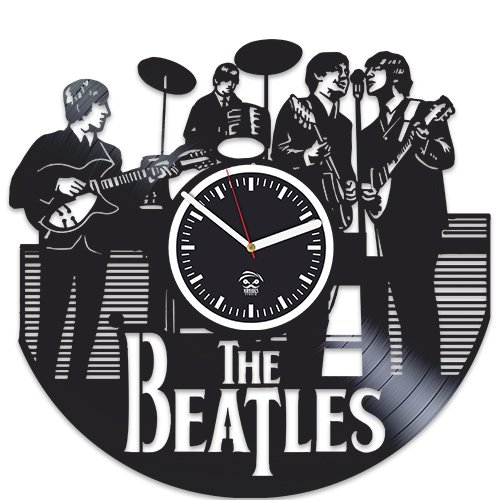 The Beatles Clock, Valentines Day Gift For Men, John Lennon, Rock Music Band, Vinyl Wall Clock, Handmade Best Gift for Fans, Vinyl Record, Kovides, Silent Mechanism, Wall Sticker, Wall Art Review
