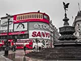 Piccadilly Circus London Poster Print by Assaf Frank (9 x 12)