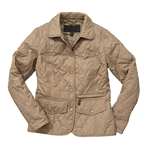TangChuan Women Sand Flight Aviator Bomber Ladies Tailor Quilted Jacket by TangChuan