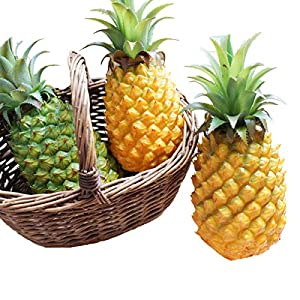XINFU Funny Christmas Pineapple Fruit Simulation Big Fake Pineapple Props Home Kitchen Wedding Party Garden Decor Photography Decorative 104