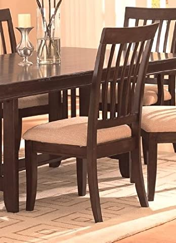 Sunset Dining Side Chair (Sold As a Pair) by Coaster Furniture - Cappuccino Finish Birch Veneer