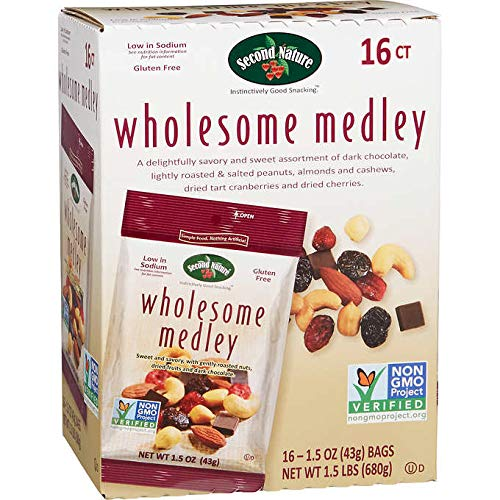 Second Nature Wholesome Medley Nuts Snack Mix 1.5 Oz 16 Counts by SecondNature (Image #1)