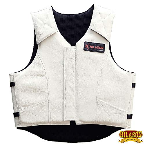 (HILASON Bull Riding Pro Rodeo Leather Protective Vest Gear Equipment XL)