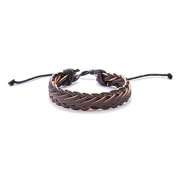 Amazon Com Dolland Mens Bracelet Men S Braided Leather Bracelet