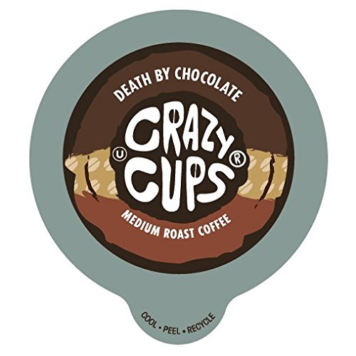Crazy Cups Death By Chocolate Flavored Coffee Single Serve cups for Keurig K-cup Brewer 22 K-cup - Perfect Cup Chocolate Coffee