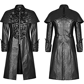 Mens Gothic Steampunk Jacket Coat Victorian Military Style