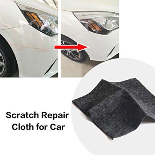 AutumnFall Car Repair Rags-Car Remove Scratches SCRATCH ERASER Magical Cloth Clear Coat Fast Fix Cloth (Black)