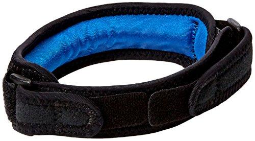 Powerstep Patella Strap - Verstellbare Kompressionsriemen mit integriertem Gel Pad - Kniestütze für Patellasehnenentzündung und andere Patellarsehne Schmerzen - perfekt für langfristige Belastung währ Schwarz