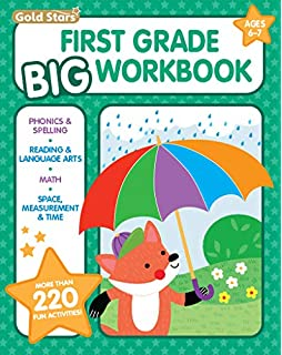 Kindergarten Big Workbook Ages 5 6 220 Activities Writing Phonics Reading Language Arts Counting And Math Gold Stars Series Gold Stars 9781680526929 Amazon Com Books