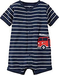 Baby Boys Firetruck Creeper