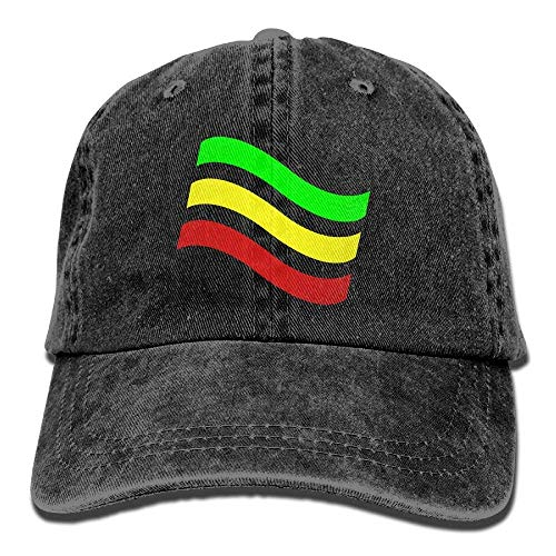 Yuting Gorras béisbol Ethiopian Flag Denim Hat Adjustable Female Tactical Baseball Hats