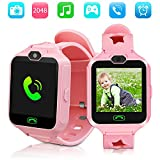 Kid Smartwatches Kids Phone Watch Girls Boys Birthday Gift for 3-15 Years Old, Touch Screen with Camera and Many Clock Interface, Alarm Function Kids Toys Gift.(Pink)