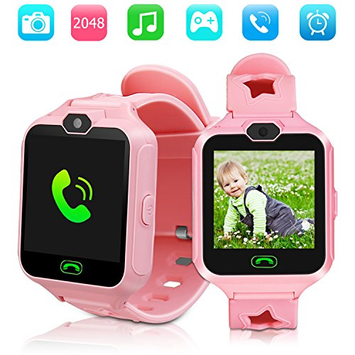 Kid Smartwatches Kids Phone Watch Girls Boys Birthday Gift for 3-15 Years Old, Touch Screen with Camera and Many Clock Interface, Alarm Function Kids Toys Gift.(Pink) by KAKULE