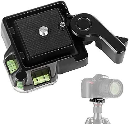 WAAO QR-40 - Adaptador de trípode de liberación rápida para cámara ...