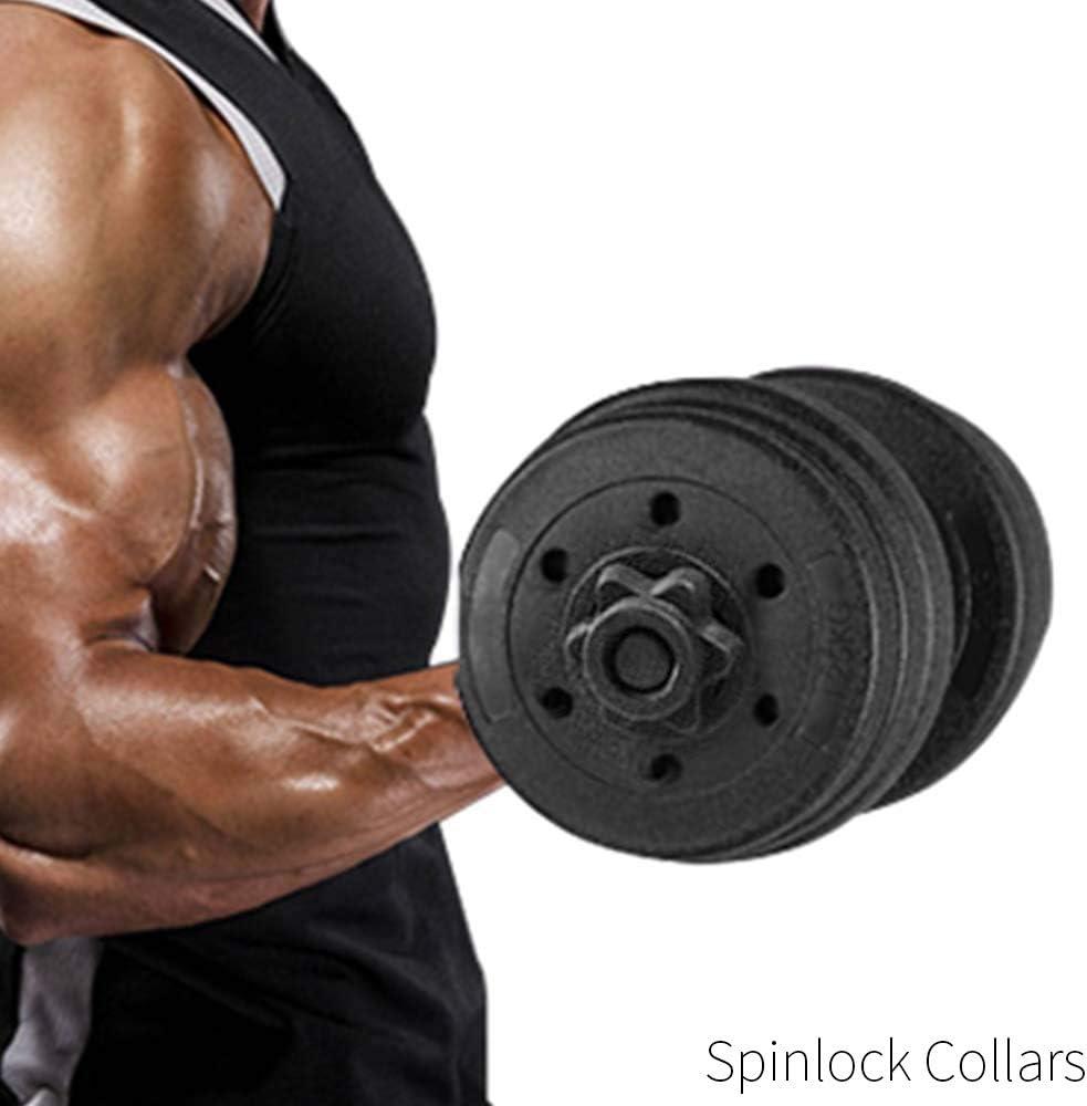 Training Kurzhantelstangenmutter Sport Gulin 1 Paar Hantel-Sechskantmuttern Sternverschl/üsse f/ür Langhantelstangen