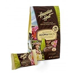 Hawaiian Host Milk Chocolate Alohamacs 4.5 Oz (Pack of 1)