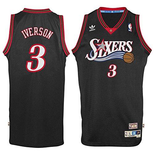 Philadelphia 76ers Allen Iverson Black Soul Adidas Swingman Jersey