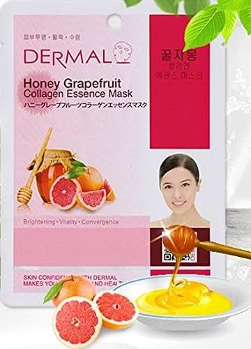 Dermal Korea Collagen Essence Mask - Honey Grapefruit (10 pack)