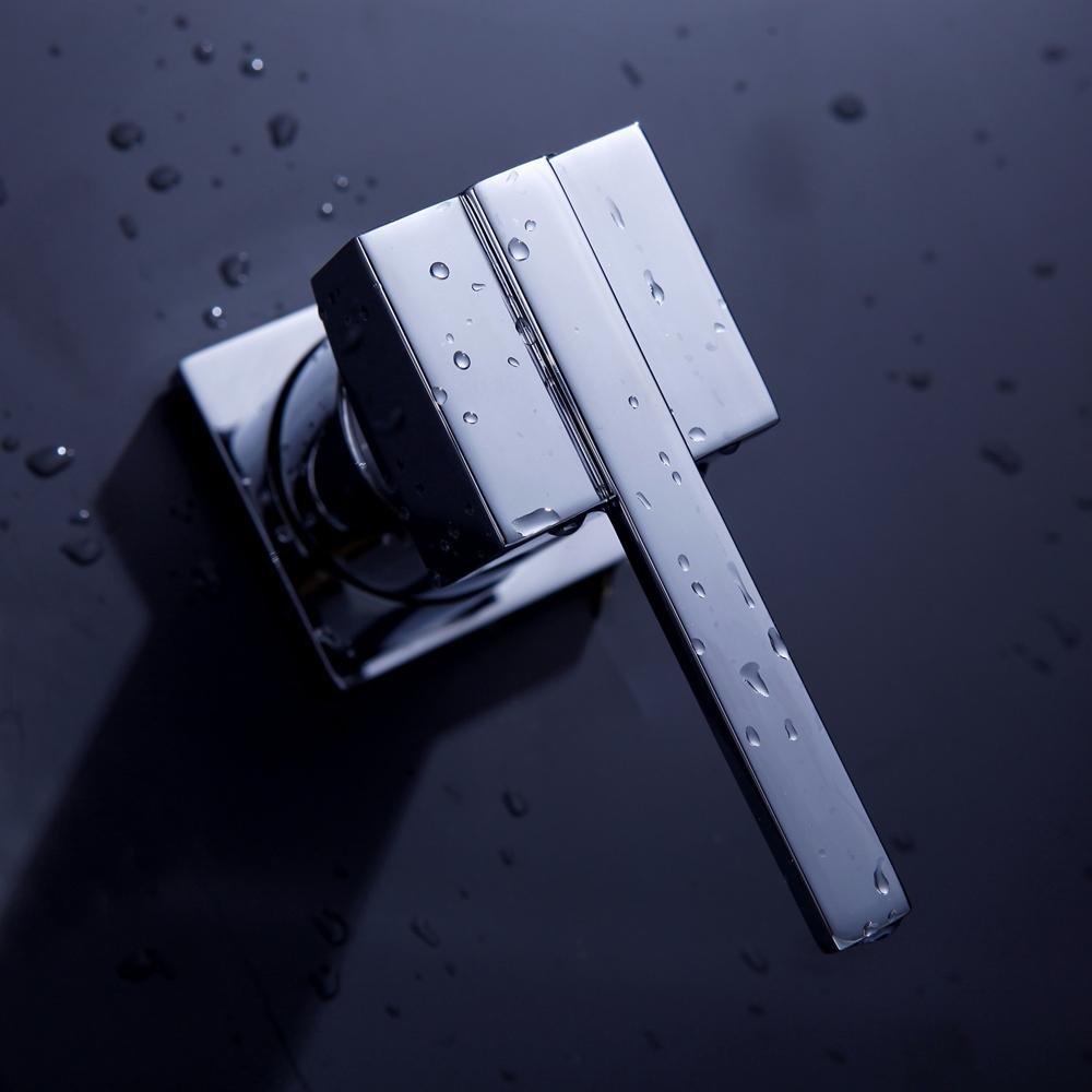 Lonfenner Grifo Grifo oculta lavabo pared plana moderna estilo grifo caliente y fr/ía del grifo