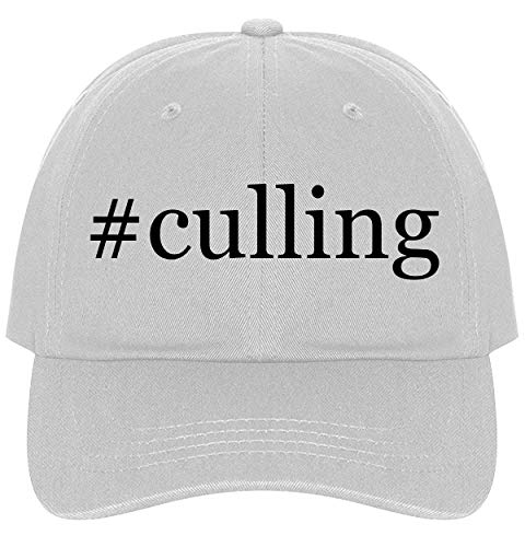 The Town Butler #Culling - A Nice Comfortable Adjustable Hashtag Dad Hat Cap, White, One Size