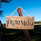 Pura vida Pallet sign Adventure sign Traveling sign Outdoor Living Spanish sign Wooden signs Dorm art Dorm signs Costa Rica Travel gift