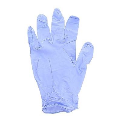 Moilant 50PC Rubber Comfortable Disposable Mechanic Nitrile Gloves Exam Gloves Restaurant Household Cleaning Gloves: Clothing
