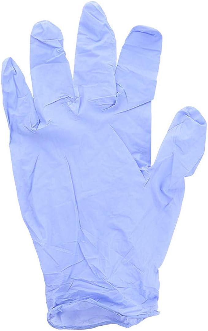 Latex Free Powder Free Safety Nitrile Exam Gloves,50 Pcs //100 Pcs Disposable Protective Gloves Medium, Black
