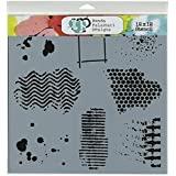 Crafters Workshop Template, 12 by 12-Inch, Texturized