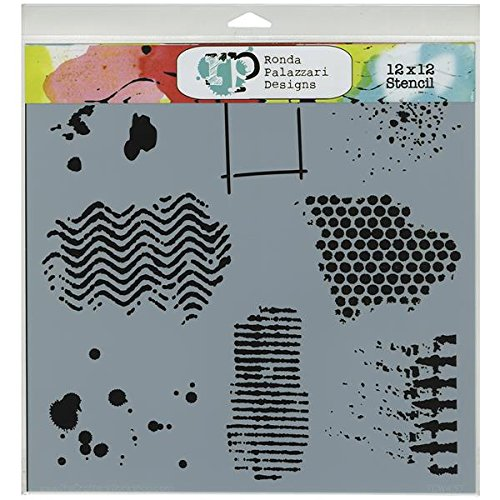 Crafters Workshop Template, 12 by 12-Inch, Texturized (Crafters Workshop Stencil)