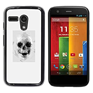 For Motorola G1 / X1032 , S-type® Drawing Tattoo Black White Art - Arte & diseño plástico duro Fundas Cover Cubre Hard Case Cover
