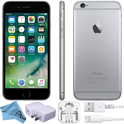 Apple iPhone 6 Factory Unlocked GSM 4G LTE Smartphone (Certified Refurbished) (Space Grey, 16 GB)