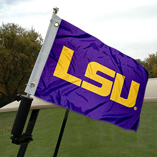 LSU Golf Cart and Boat Flag