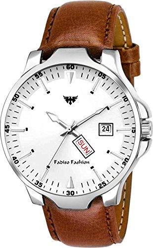 Fadiso Fashion FF2021-WH White Day & Date Watch - for Men (B07F82XWN6) Amazon Price History, Amazon Price Tracker
