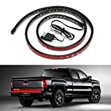 "CICMOD Waterproof 60"" Red/white LED Tailgate Light Bar Backup Reverse Brake/Tail Turn Signal Light for Pickup Ford F-150 GMC Chevy Dodge Toyota Nissan Honda Truck SUV 4x4 Dodge Ram VAN"