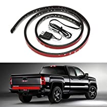CICMOD Waterproof 60 Red/white LED Tailgate Light Bar Backup Reverse Brake/Tail Turn Signal Light for Pickup Ford F-150 GMC Chevy Dodge Toyota Nissan Honda Truck SUV 4x4 Dodge Ram VAN