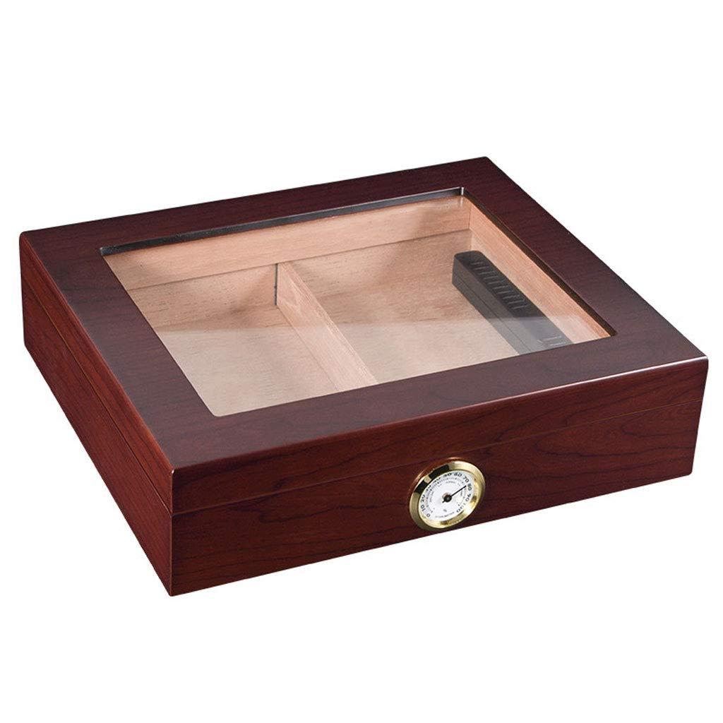 葉巻ヒュミドール シガーボックス - シダーウッドシガーボックスヒュミドールポータブルシガーボックスシガー保湿恒湿シガーボックス (色 : Brown)  Brown B07NVD3HFH