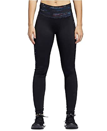 4270ef70d47 adidas Climalite Compression High-Waist Leggings (Black Multicolor Print,  XS)