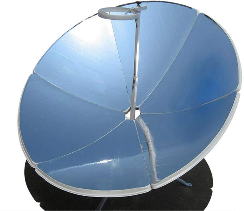 Eapmic Concentrating Solar Cooker Sun Oven, 1800W Portable & Detachable Camping Parabolic Solar Oven Cooker Cookware for Outdoor Barbeque Picnic, 1.5m Diameter(4.9ft)