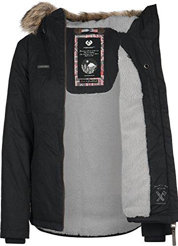 Ragwear Shortcut W Chaqueta de invierno negro