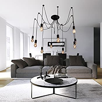 LightInTheBox Vintage Edison Multiple Ajustable DIY Ceiling Spider Lamp Light Pendant Lighting Chandelier Modern Chic Industrial