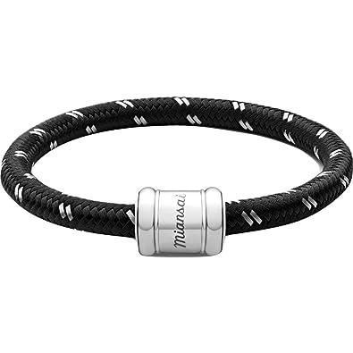 Miansai Stainless Steel Single Rope Casing Bracelet mVcUTXo