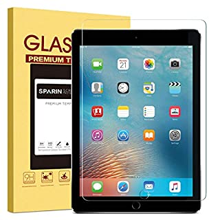 SPARIN Screen Protector for iPad 6th Generation / iPad Pro 9.7 inch, Tempered Glass for iPad 9.7 (2018/2017)- Support Apple Pencil / High Definition / Scratch Resistant