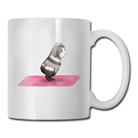 WYYCLD Yoga Guinea Pig Cocoa Mugs Ceramic Coffee Cups with ...