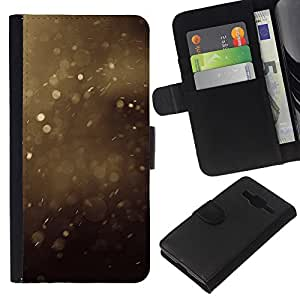 EJOY---La carpeta del tirón la caja de cuero de alta calidad de la PU Caso protector / Samsung Galaxy Core Prime / --Verano polvo Manchas Marrón Naturaleza