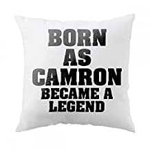 Pillow with Born as CAMRON, became a legend